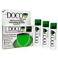 DocoShield Cold Sore Prevention Lip Balm w/Docosanol and Lysine (3-Pack)