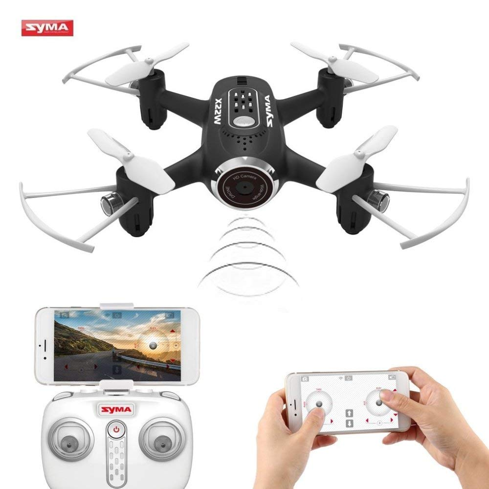 CN Mini Drohne Mit Kamera Live-Video 2.4Ghz 4Ch 6-Achsen-WiFi FPV Rc Quadcopter Mit App-Steuerung Flugplan, Höhenlage, 3D-Flips, Headless-Modus, One Key to Return Und LED-Leuchten