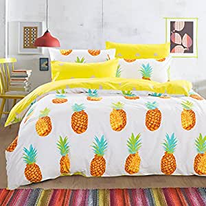 Amazon Com Cliab Pineapple Bedding Queen Bed Sheets 100