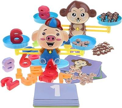 Toygogo Juguete De Báscula De Equilibrio De Mono/Cerdito De Dibujos Animados Juego: Amazon.es: Juguetes y juegos