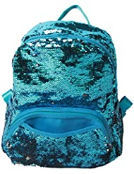 Zumd Sequin Woman School Backpack/Daily Backpack (Blue)