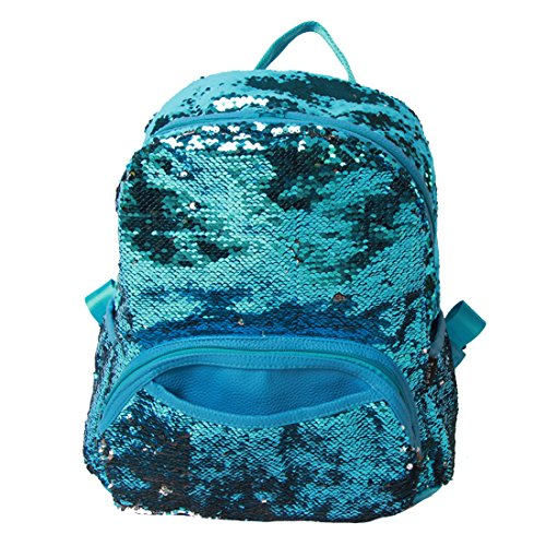 Sequin Woman School Backpack/Daily Backpack (Blue) -