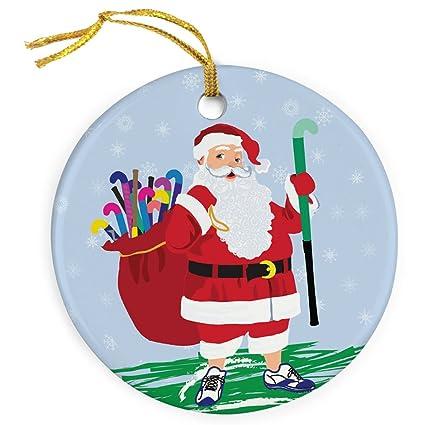 Amazon.com : Field Hockey Santa Ornament   Field Hockey Porcelain ...