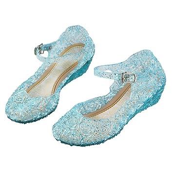 URAQT Zapatos de la Princesa, Zapatos de Disfraz Niñas Sandalias de Vestido con Tacón Plástico