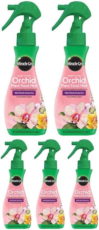 Miracle-Gro FBA_100195 Plant Food Mist (Orchid Fertilizer) 8 oz, Single, Multicolor (5 Pack)