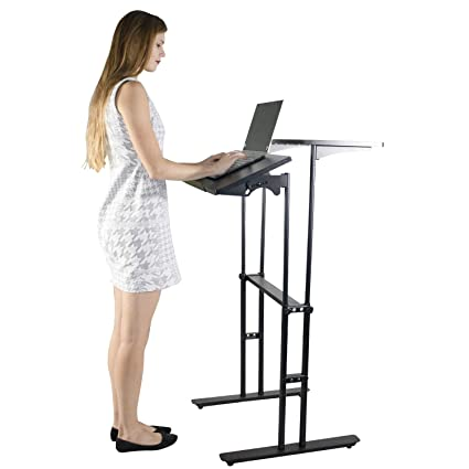 Amazon Com Standing Desk Height Adjustable Home Office Modern
