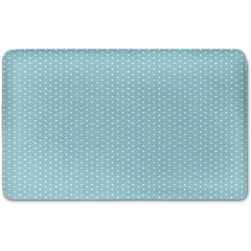 Memory Foam Bath Mat,Light Blue,Classic Polka Dots Vintage Design Stylish Cottage Country Home DecorationsPlush Wanderlust Bathroom Decor Mat Rug Carpet with Anti-Slip Backing,Light Blue White