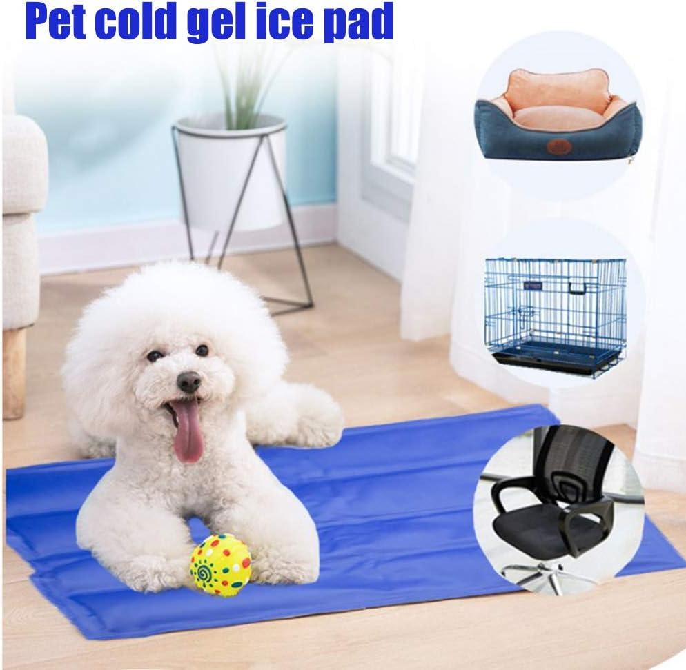 MIFASA Almohadilla de Hielo, Estera de enfriamiento para Perros Almohadilla de autoenfriamiento para Mascotas Estera de Hielo Plegable Estera Fresca de Verano