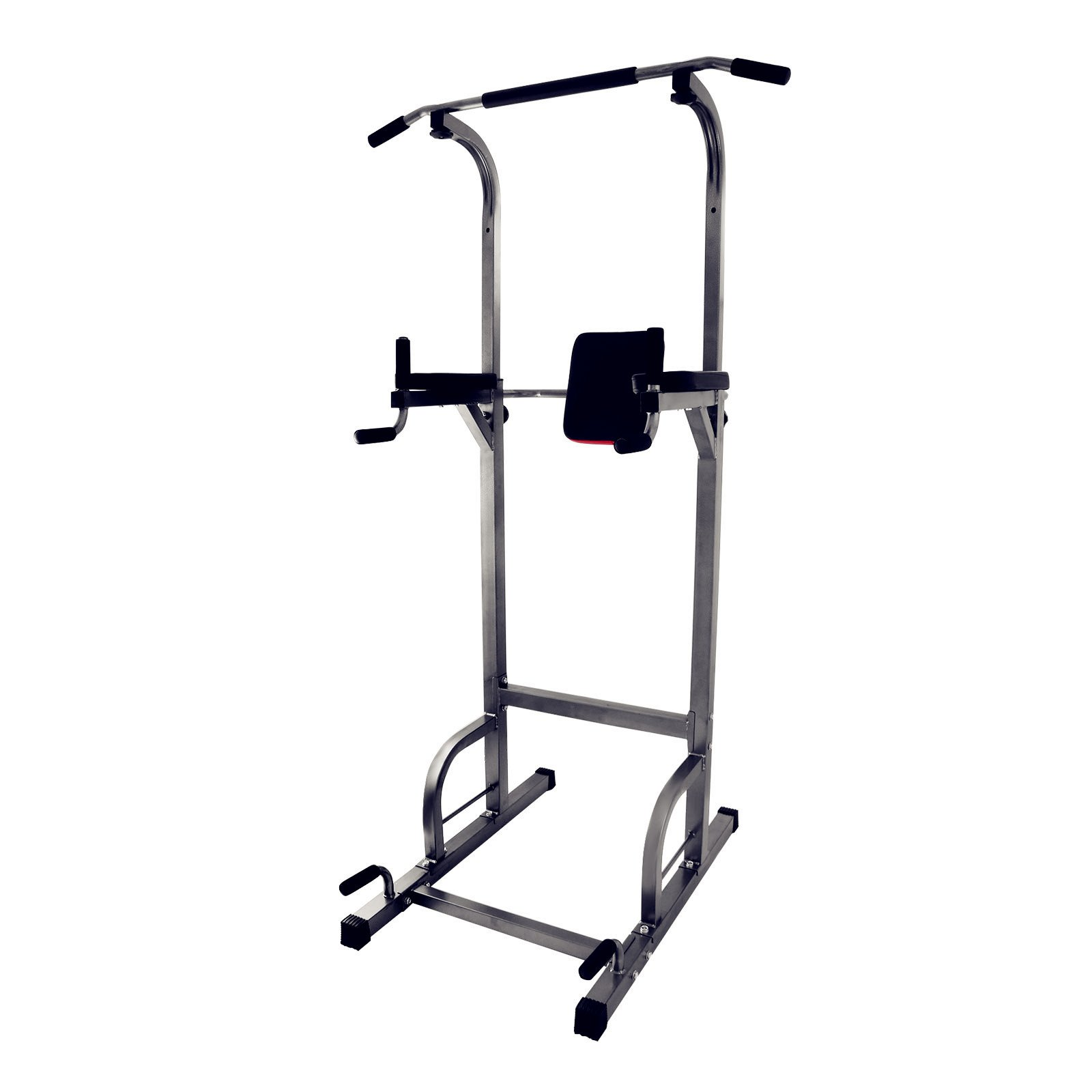 Popsport Power Tower Station 440LBS Multi-Station Power Tower Adjustable Height Dip-Station Workout Pull Up Station for Indoor Home Fitness (440LBS)
