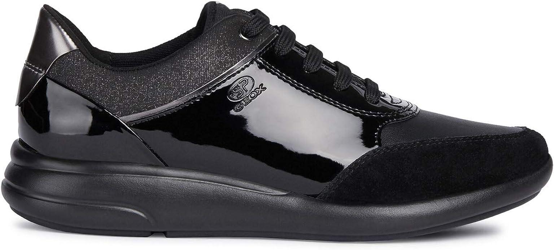 Geox Damenschuhe Sneakers D Ophira A aus schwarzem Leder D941CA 00222 C9999
