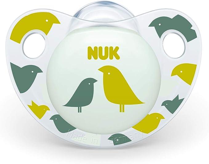 NUK 10177125 Trendline - Chupete de silicona (forma adaptada a la mandíbula, 18-36 meses, 2 unidades), color rosa: Amazon.es: Bebé