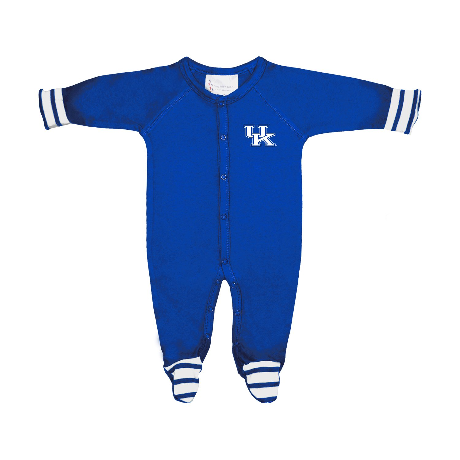 Kentucky Wildcats NCAA Newborn Baby Long Sleeve Colored Footed Romper