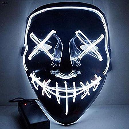 HS-ZM-06 Máscara De Halloween Led Fondo Negro Luz Fría ...