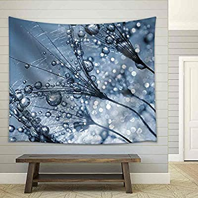 Amazing Handicraft, Created Just For You, Dewy Dandelion Flower Close Up Fabric Wall
