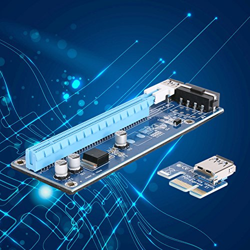 Mining SATA Cable, Awakingdemi PCI-E 1X to 16X Extender Riser Card 4Pin USB3.0 Cable for Mining,20pcs by Awakingdemi (Image #2)
