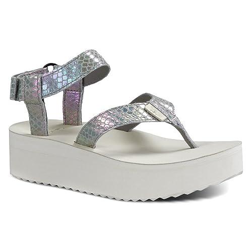 Teva - Flatform Sandal Iridescent - Women, Grey, 4 B(M) UK