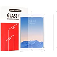 Robustrion Pack of 2 Anti-Scratch & Smudge Proof Tempered Glass Screen Protector iPad 9.7 inch 2018 6th Generation