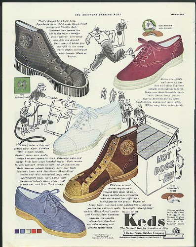 - Keds Speedarch Supreme Oxfords Bike Keds United States Rubber Shoes ad 1938