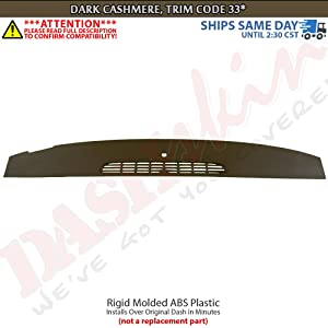 DashSkin Molded Defrost Dash Cover Compatible with 07-14 GM SUVs & Pickups in Cashmere