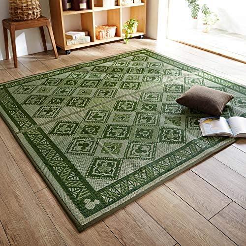 [ベルメゾン] ディズニー い草ラグ イ草・畳マット 日本製 グリーン系 約191×250