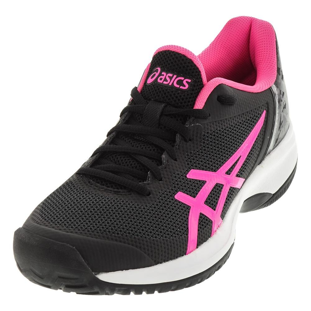 ASICS E850N Women's Gel-Court Speed Shoe B071Z38LD3 8 B(M) US|Black/Hot Pink/White