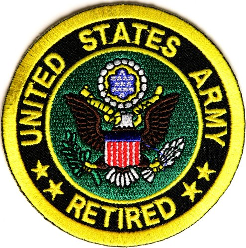 Us Army Retired Patch (US Army Retired Circle Patch - By Ivamis Trading - 3x3 inch)