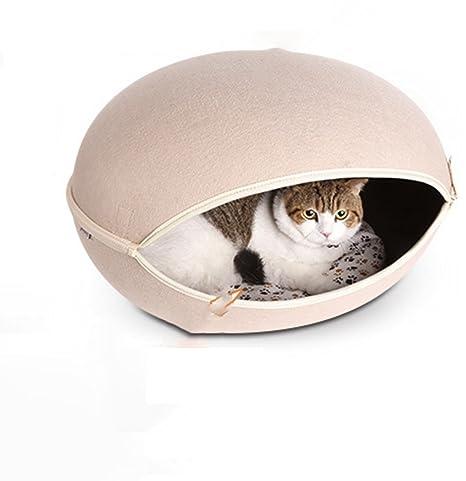 Cama de perro y gato cueva Ecofriendly forma de huevo mascota casa cueva desmontable para gatos