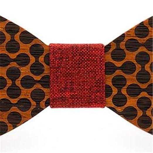 Lindhb Corbatas de Lazo de Madera Corbata de moño simétrica para ...