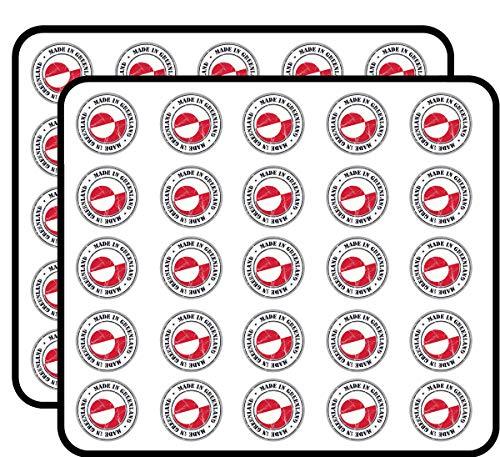 Made in Greenland Grunge Flag Stamp Art Decor Sticker for Scrapbooking, Calendars, Arts, Kids DIY Crafts, Album, Bullet Journals 50 Pack