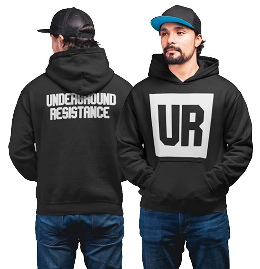 1 4 Mile Kult DJ Kapuzenpullover Detroit Techno Underground Resistance UG - USA - Mills Militia