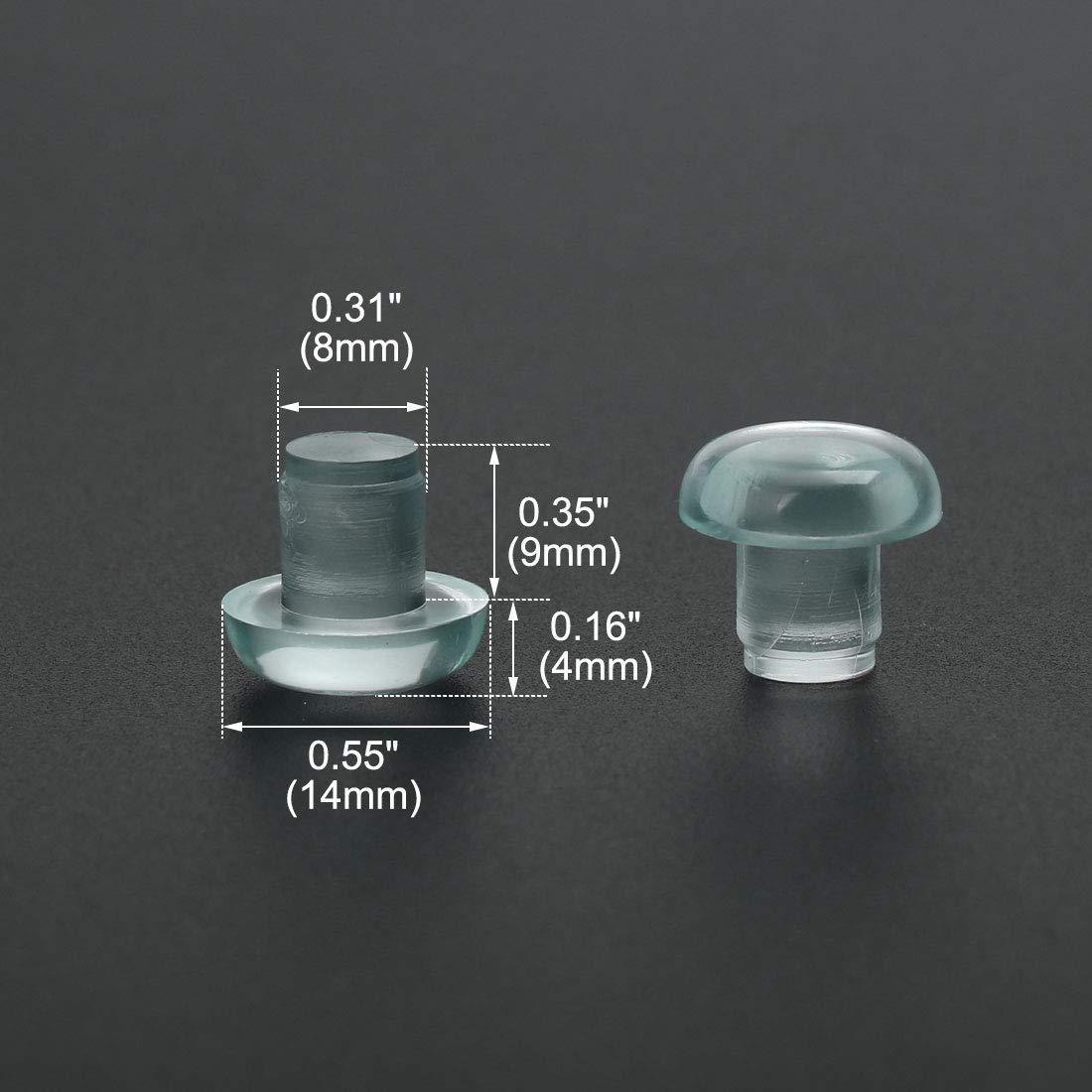 Sto/ßstangen 8mm Klar Gleiten Terrasse im Freien M/öbel Stuhl Schreibtisch DE de sourcing map 24 Stk