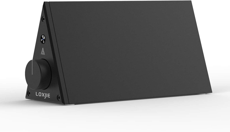 LOXJIE A10 Desktop Stereo Power Amplifier Digital Class-D High-Power Audiophile Level Amp Chip TPA3116 (Black)