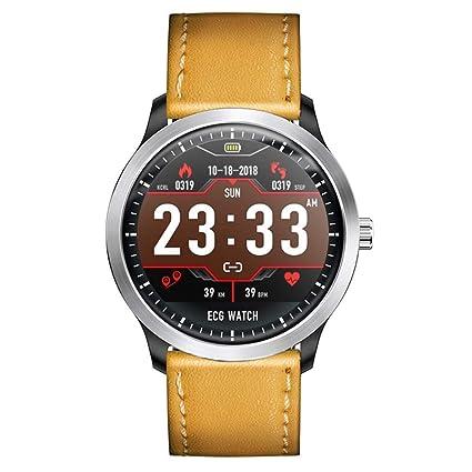 Amazon.com: QEAC Reloj inteligente ECG EKG PPG con soporte ...