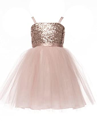 2513911d1ea Amazon.com  JM Dreamline Sequin Top Overlay Tulle Skirt Flower Girls ...