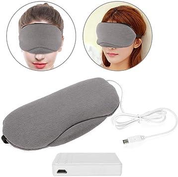 Masque de sommeil en coton lavande noir