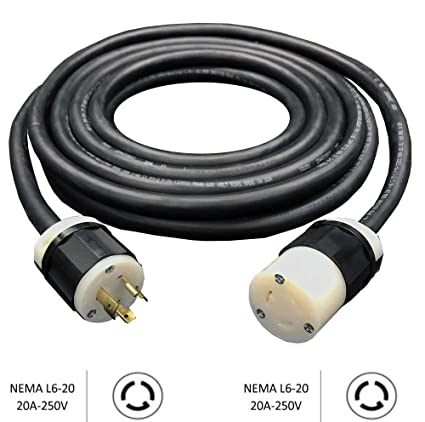 Magnificent Nema L6 20 Generator Extension Cord 20A 250V 10 3 Soow Heavy Wiring Cloud Oideiuggs Outletorg