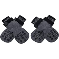 PAWCHIE Dog Socks for Hardwood Floor with Strap Indoor Anti Slip Knit Paw Protector Traction Control