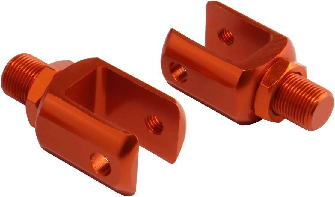 Custom Motorcycle Shock Absorber Rear Suspension U-type Adapters Orange 2pcs