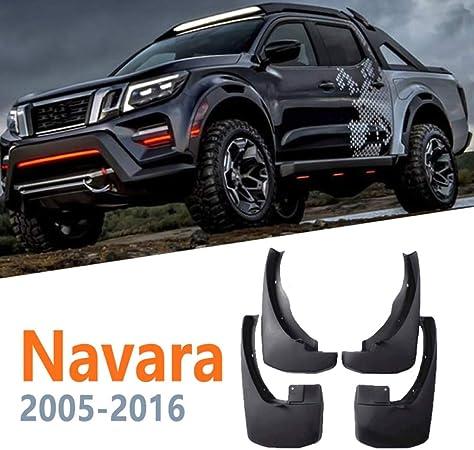Garde-boues Bavette for Nissan Navara Frontier Brute D40 2016~2005 Fender boue Garde Splash Accessoires Garde-boue Rabats Color : Black