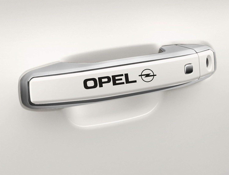 Adatti per Logo Opel UUSticker 4 Adesivi per Maniglia della Porta dell/'Auto in Vinile