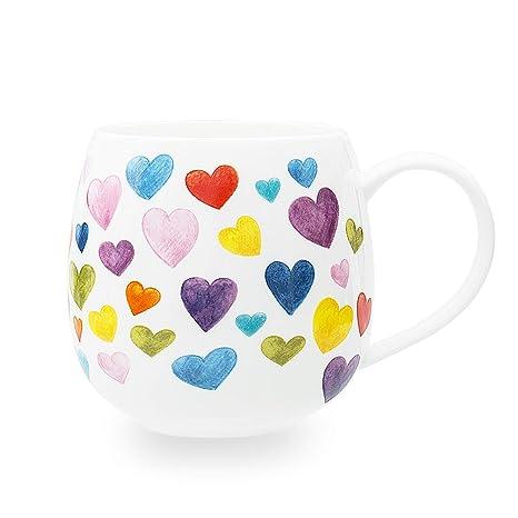 Shaped For Mugs Women Heart Mug Fine Cute Mom Gifts Colorful Ceramic Coffee Bone China Birthday Christmas Cups13oz Perfect Friends 4Ajc35LRq