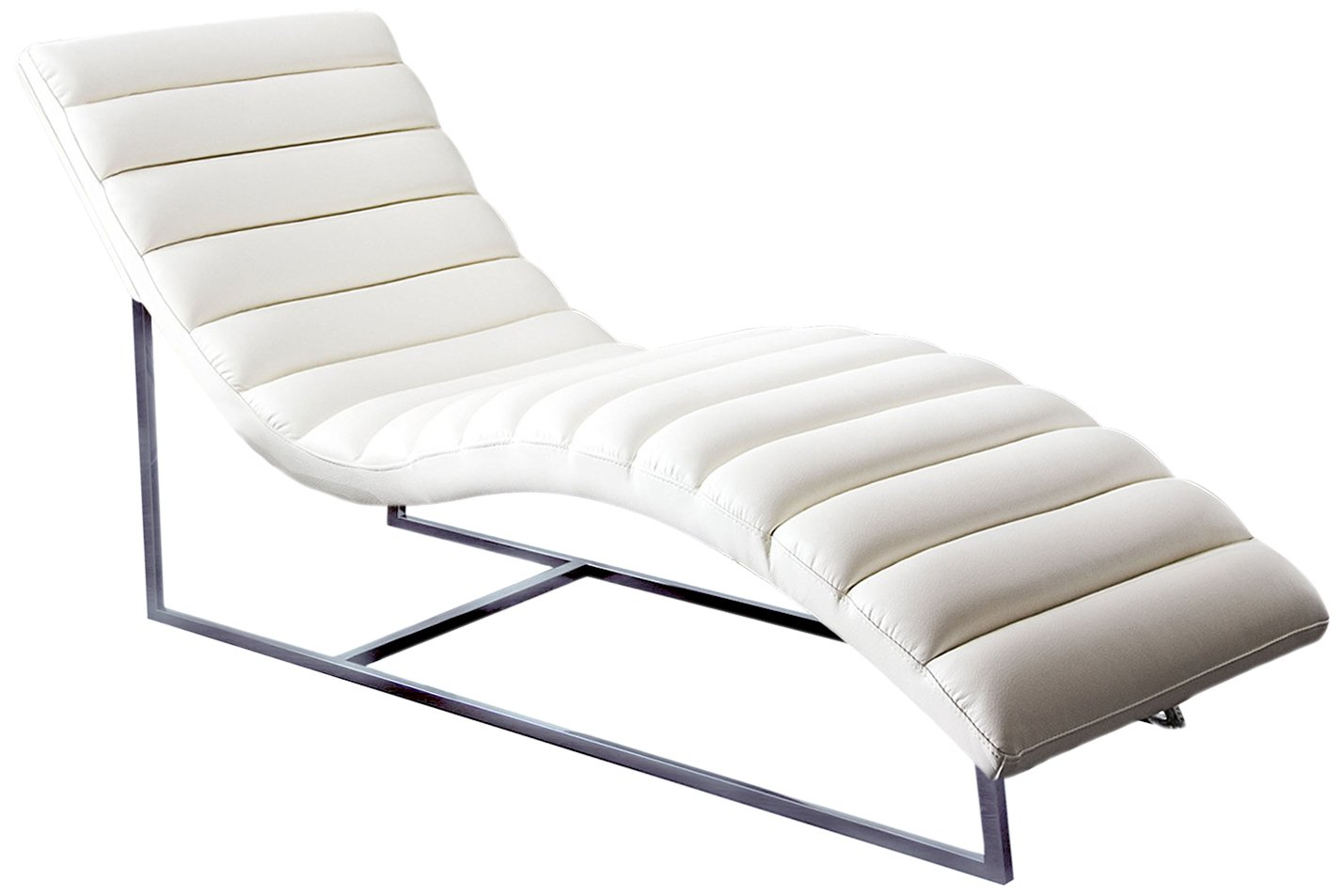 Diamond Sofa Chaise Lounge in White