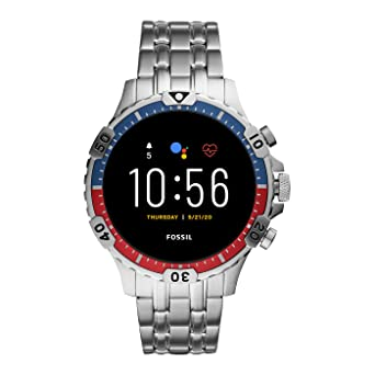 Smartwatch Fossil Garrett HR Gen 5 Silver Azul Rojo FTW4040 ...