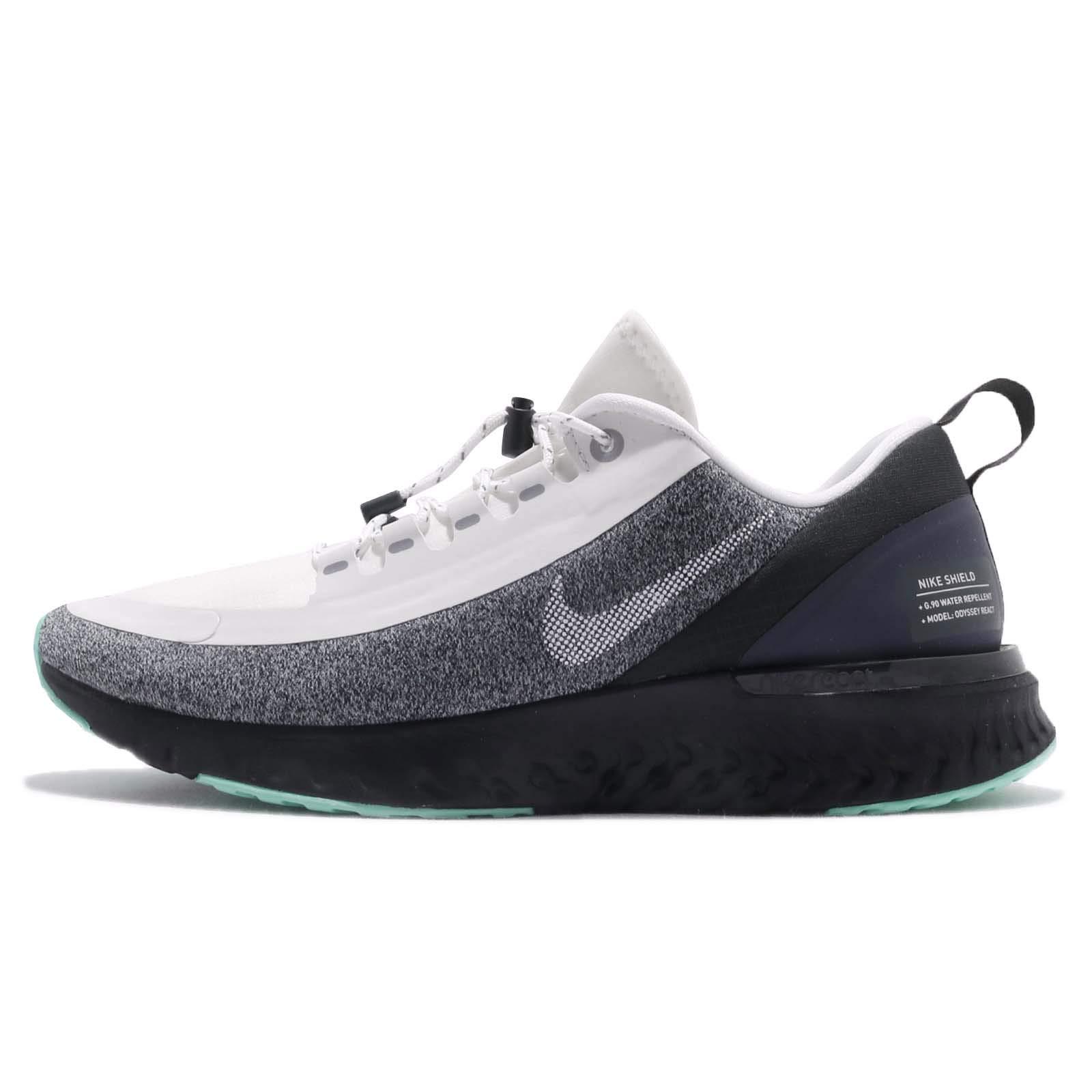 newest 2f0f1 931d5 Nike Women Odyssey React Shield Running Shoe White/Black/Green (US 7)