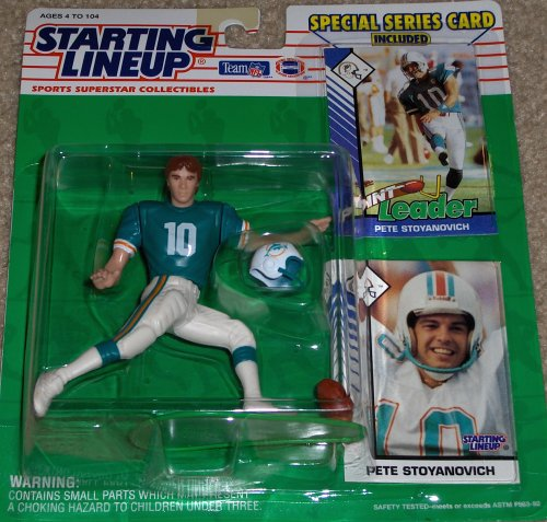 1993 Pete Stoyanovich Miami Dolphins Kenner SLU Starting Lineup NFL Football Figure