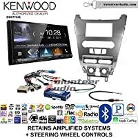 Volunteer Audio Kenwood DMX7704S Double Din Radio Install Kit with Apple CarPlay Android Auto Bluetooth Fits 2008-2011 Focus (SWC)
