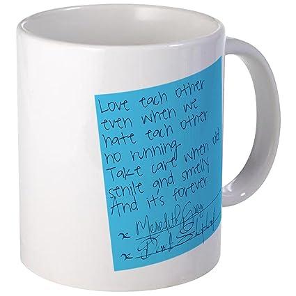 b89912c3cf0 CafePress Grey's Anatomy: Sticky Note Mug Unique Coffee Mug, Coffee Cup