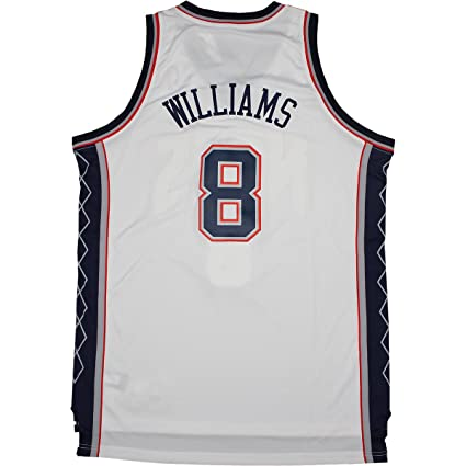 buy cheap 50c8b 80d33 Deron Williams New Jersey Nets Blue/white #8 Swingman Jersey ...