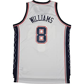 8d0378d78 Image Unavailable. Image not available for. Color  Deron Williams New Jersey  Nets Blue white  8 Swingman ...