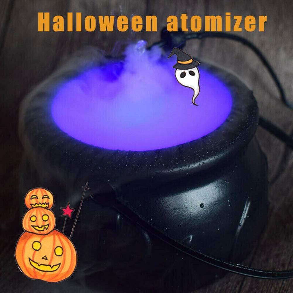 RUIMING Chaudron /à Fumer Halloween brumisateur Maker Fogger Fontaine /à Brouillard Machine Changement de Couleur